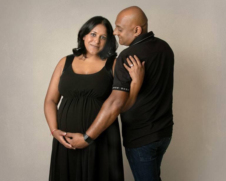 Pregnancy Photoshoot, both parents, by Haywards Heath photographer