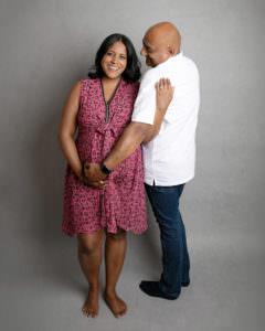 Pregnancy Photoshoot, happy pregnant mama with husband, by Haywards Heath photographer