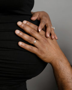Hands on bump, pregnancy photoshoot in Haywards Heath