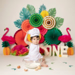 Hawaiian themed cakesmash photoshoot by Haywards Heath Photographer